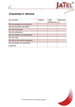Jatel Checkliste 5: Stimme