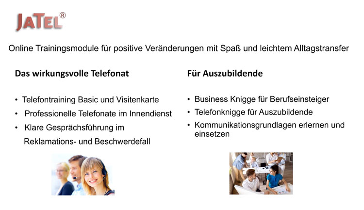 Online Trainings bei JaTel®